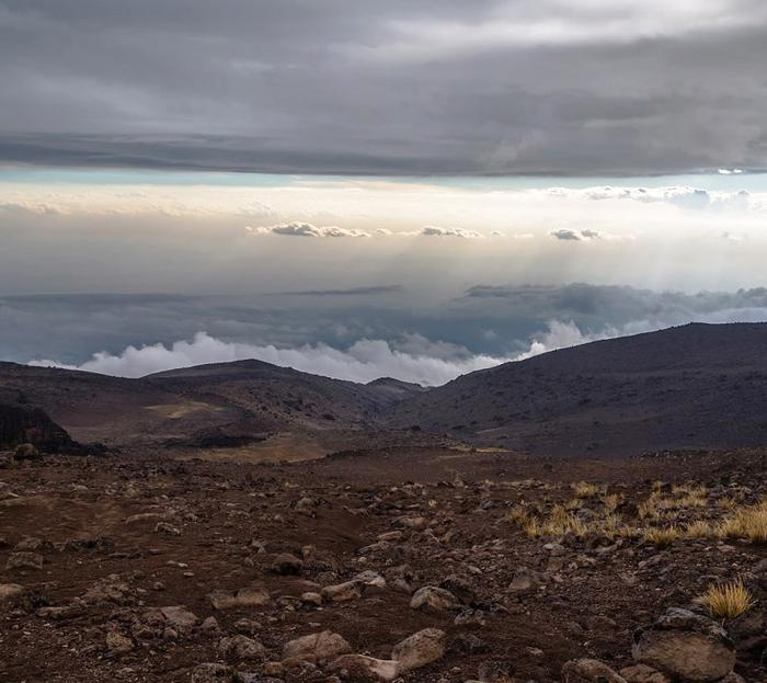 Вид с горы Килиманджаро