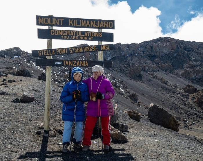 Верхушка горы Килиманджаро