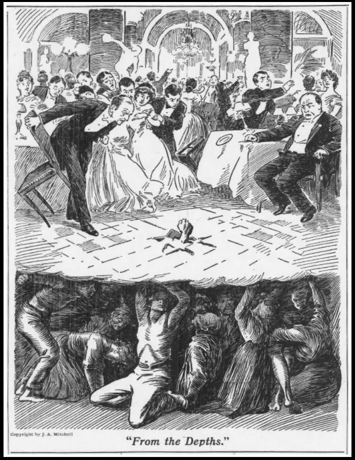 Рисунок  Из глубин  ( From the Depths ). Американский художник Уильям Бальфур-Кер. 1906 г.