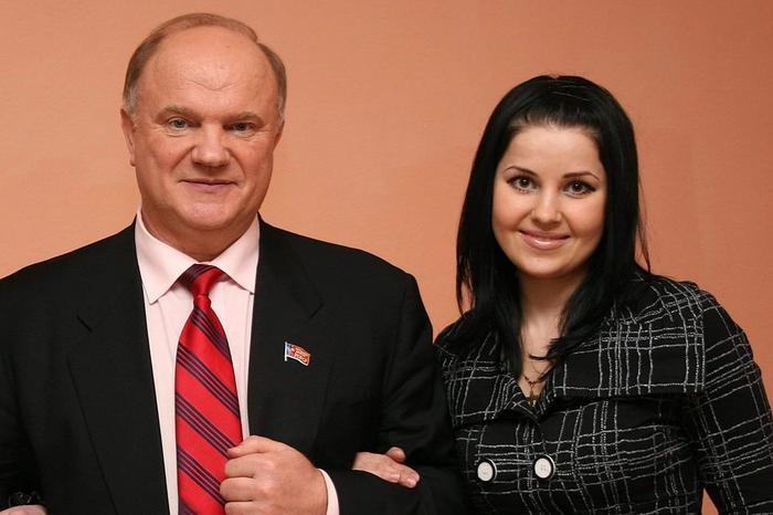 Мария Прусакова и Геннадий Зюганов.