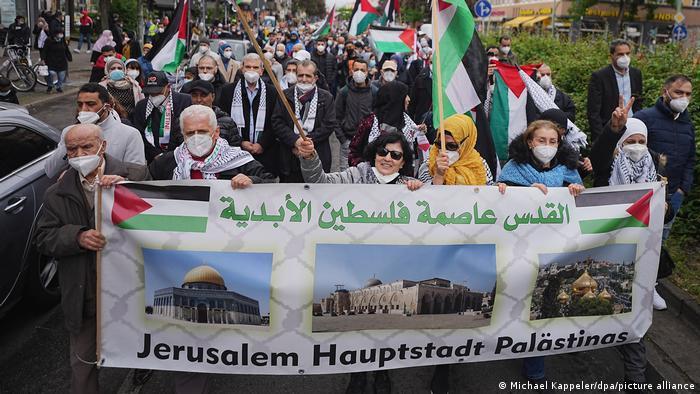 Антиизраильская демонстрация в Берлине