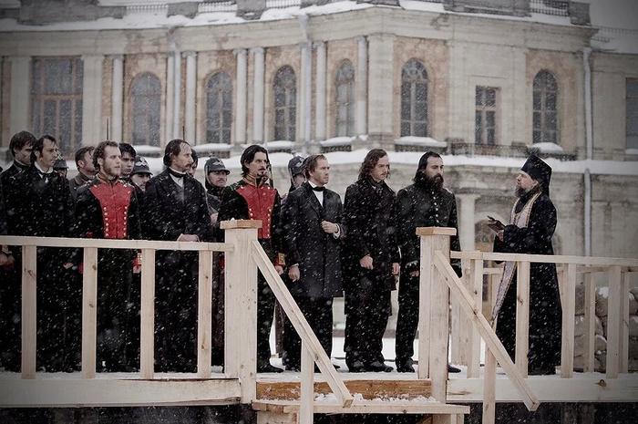 """Казнь Петрашевцев, кадр из сериала """"Достоевский"""" (2010г.)"""