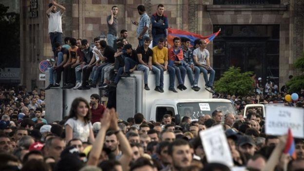 Протесты в Армении весной 2018 года