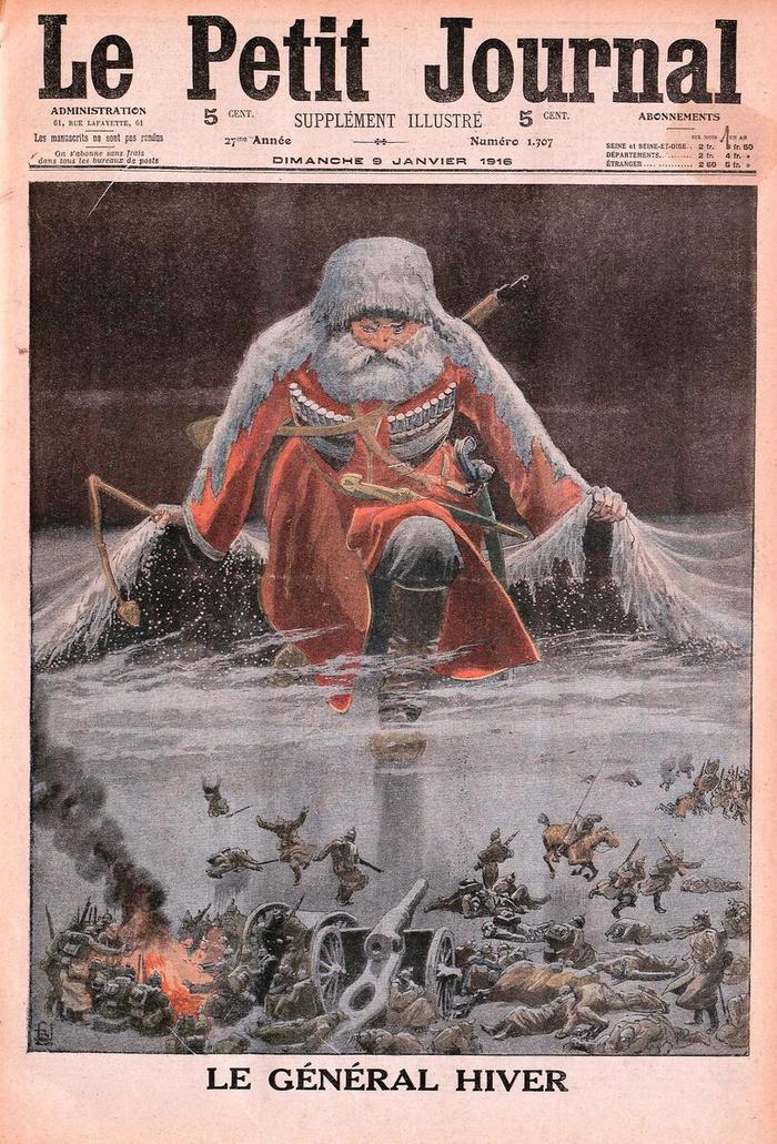 "Карикатура ""Генерал Мороз"" на обложке французского журнала"