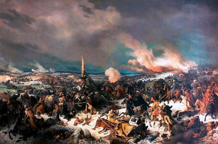 Переправа французов через р. Березена,  П. Хесс