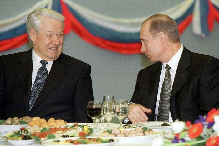 Ельцин и Путин. Картинка из Яндекса