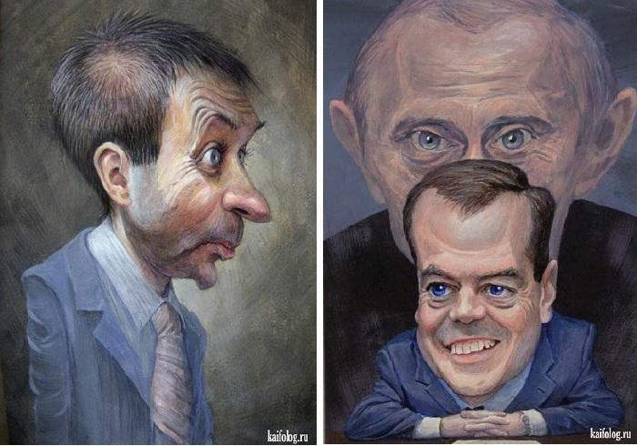 «Губернатор». «Президент и премьер». Карикатуры и шаржи от художника Дениса Лопатина