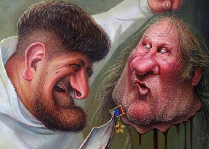 «Кадыров и голова Депардье». Карикатуры и шаржи от художника Дениса Лопатина