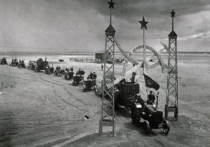 колхоз трактор5