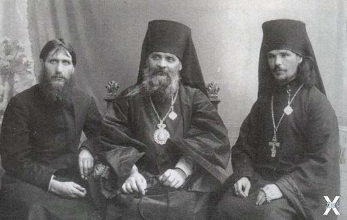 Григорий Распутин, саратовский епископ Гермоген и иеромонах Илиодор