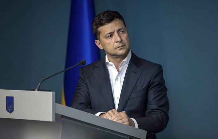 Президент Украины Владимир Зеленский Ukrainian Presidential Press Office via AP