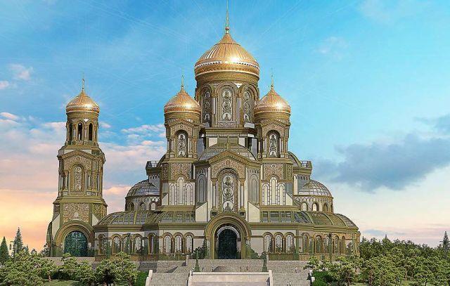 3D-макет главного храма Вооруженных сил России