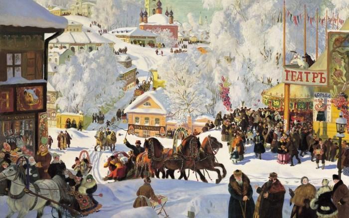 Б. Кустодиев. Масленица, 1919