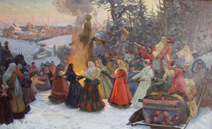 С. Кожин. Масленица. Проводы. Россия, XVII век, 2001