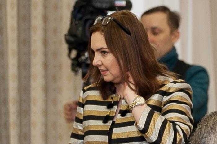 Ирина Алашкевич на встрече губернатора с журналистами