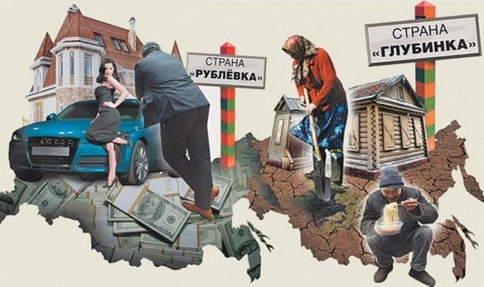 Страна «Рублёвка» и страна «Глубинка»