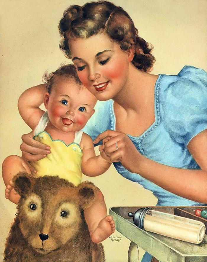 Открытки о маме и детях