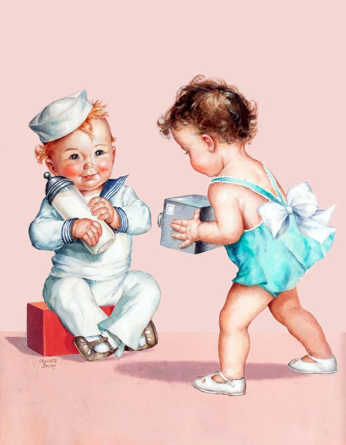 Смешные детки картинки художников