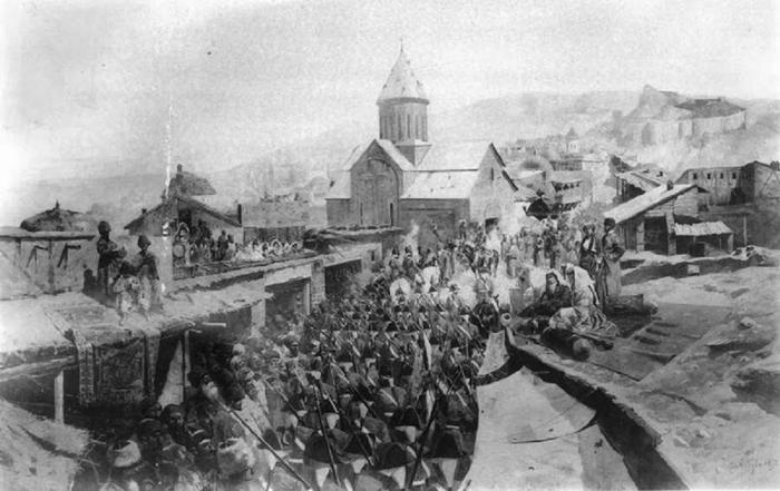 вступление русских войск в Тифлис - спасение единоверцев