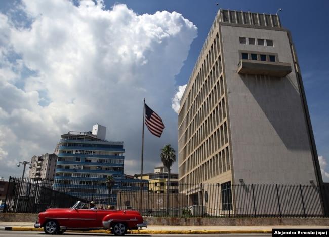 Посольство США в Гаване, июнь 2017 года