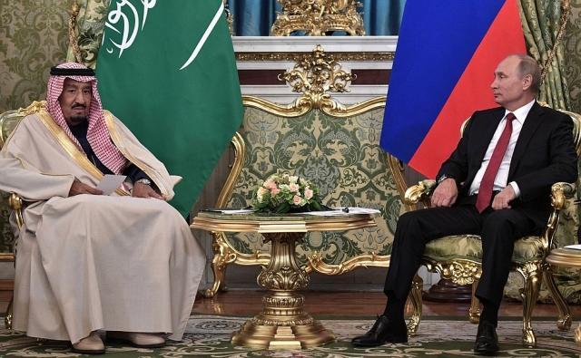 Владимир Путин с Королём Саудовской Аравии Сальманом Бен Абдель Азизом Аль Саудом