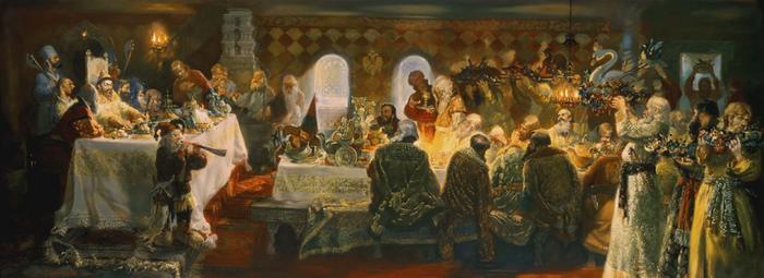 какое угощение обычно подавалось к новогоднему столу в рф до реформ петра i