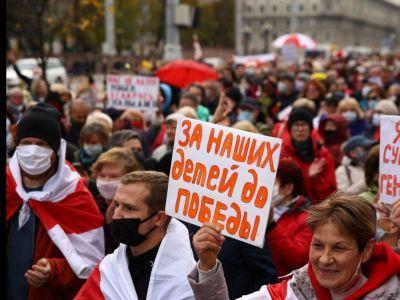 забастовка в Минске. Фото: Кулуары KYKY
