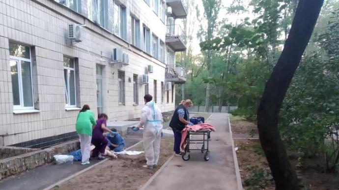 Больница №4 в Киеве, где произошло самоубийство.