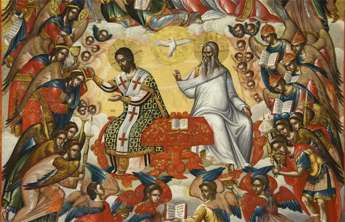 Небесная литургия (Икона)