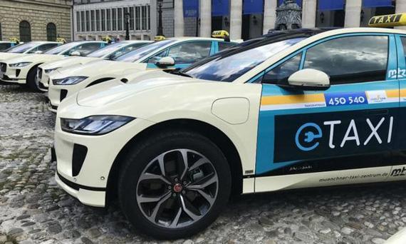 Электрические Jaguar I-pace пополнили ряды мюнхенских такси