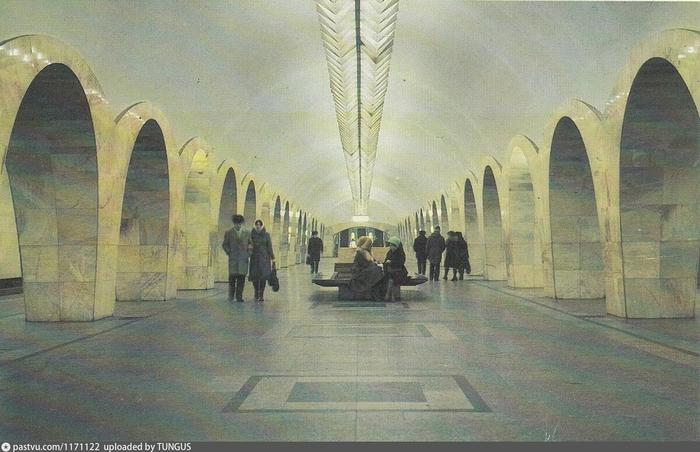"""Светильники станции """"Кузнецкий мост"""", 1987."""