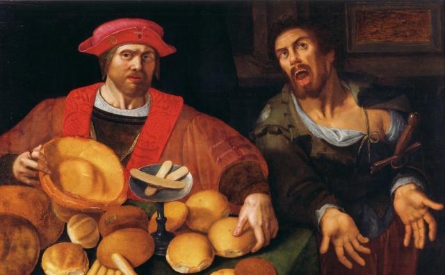 Неизвестный фламандский художник. Богатый и бедный. XVII век