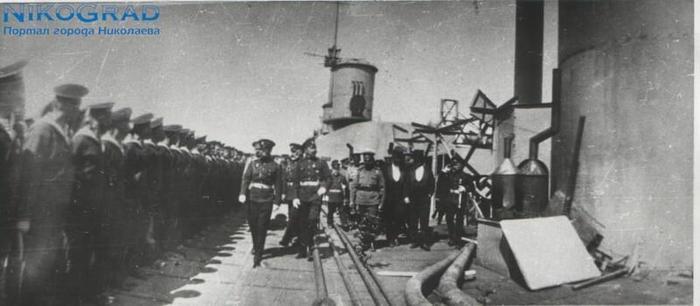 Николай II  во время визита в Николаев