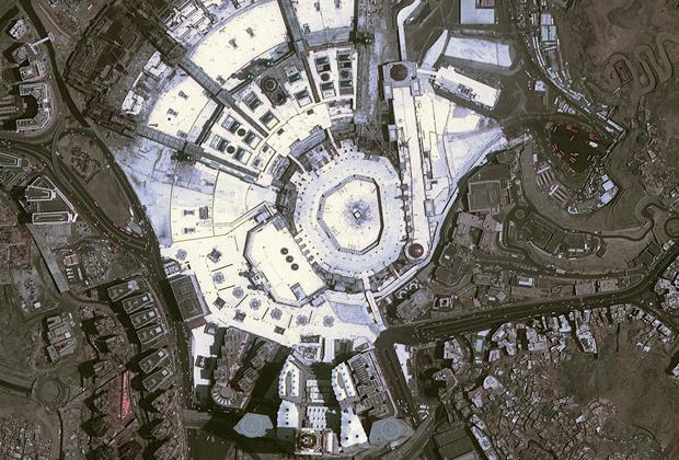 Мечеть аль-Харам, вид сверху