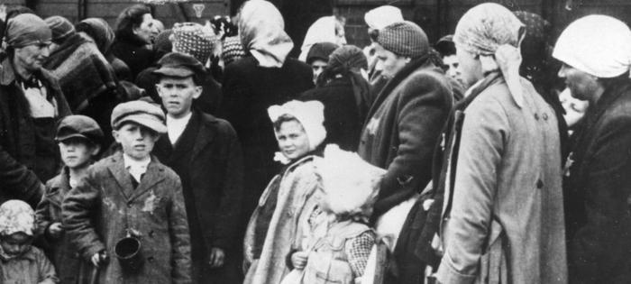 <p>Auschwitz, poland, world war 2, concentration camp victims after disembarking from a freight train at the station near the camp. (Photo by: Sovfoto/UIG via Getty Images)</p>