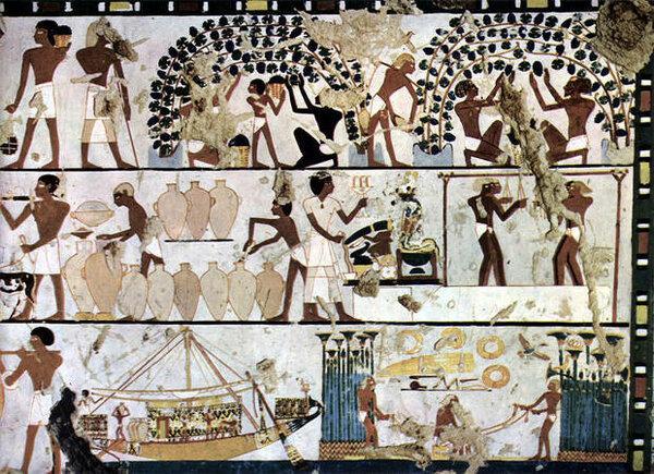 Египетские виноделы