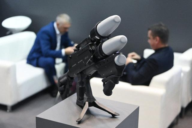 """Антидрон Rex-2 производства Zala Aero Group на XXIV Международной выставке """"Интерполитех - 2020"""" в Москве."""