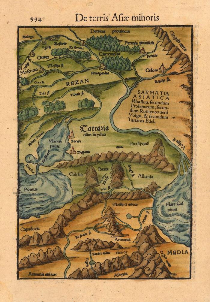 Тартария на карте Мюнстера. <br>