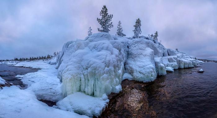 Ладожское озеро зимой