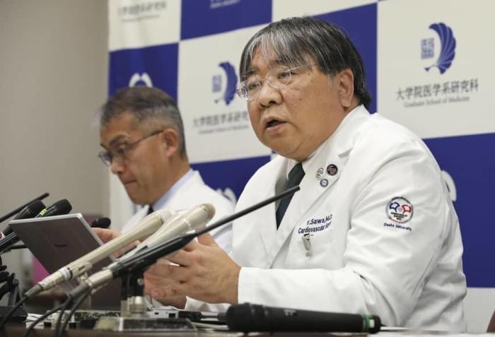 Профессор Йосики Сава во время пресс-конференции. Фото: KYODO