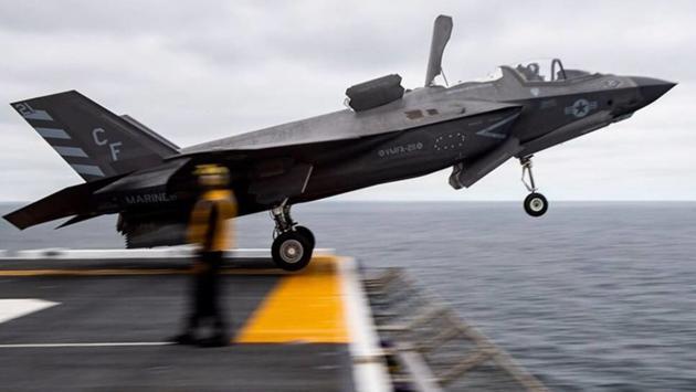 Истребитель ВМС США F-35B выстрелил всебя изпушки