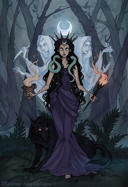 Богиня смерти обещает свободу от смерти, стоит только пойти за ней. Её факел отпугивает злых духов, а также отгоняет от человека сам факт умирания