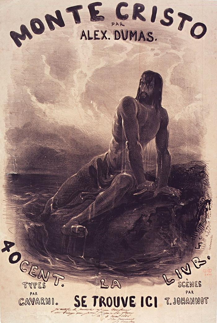 Иллюстрация к книге А. Дюма в XIX веке