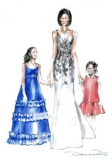 Модельеры рисуют эскизы одежды для инаугурации