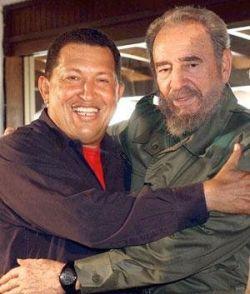 Встреча Фиделя Кастро и Уго Чавеса продолжалась более четырех часов