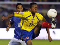 Бразилия не справилась с Колумбией в отборочном матче ЧМ-2010
