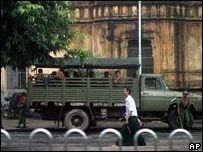 В Бирме продолжаются аресты и допросы