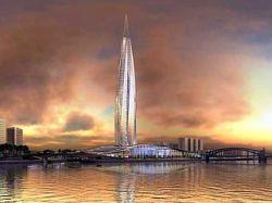 """Заксобрание Петербурга утвердило законопроект о строительстве небоскреба \""""Охта-Центр\"""" в центре города"""