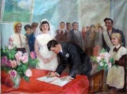 Иллюстрации на тему: свадьба в СССР (фото)
