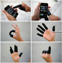 Напальчники для телефонов с сенсорным интерфейсом (видео)